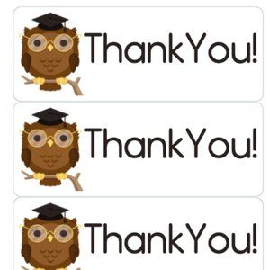 Other - Thank You Stickers 90 Owl Label Card Tag Owls